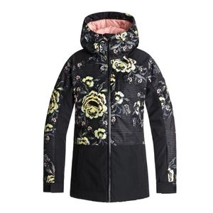 -NWT- ROXY women's black torah roses snow jacket
